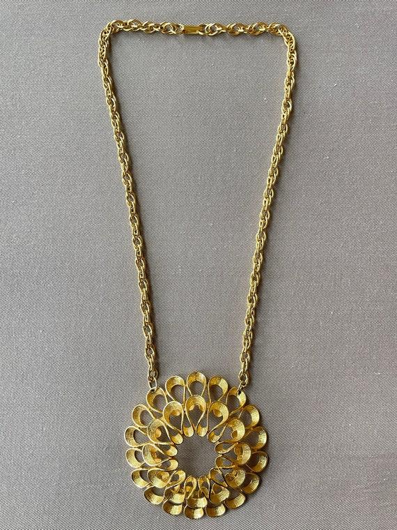 Massive Mid-Century Pendant Statement Necklace - image 2