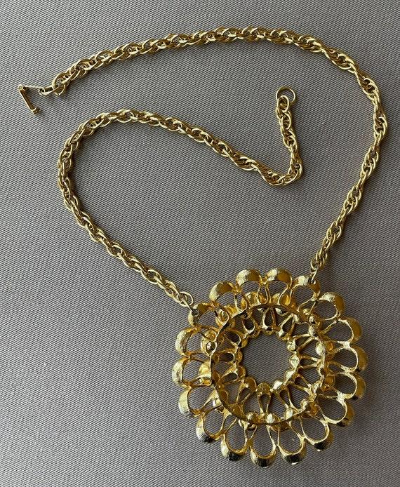 Massive Mid-Century Pendant Statement Necklace - image 5
