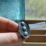 Opal Shield Ring