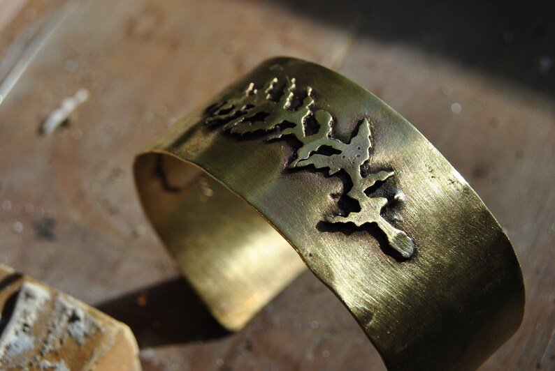 Golden Fern Cuff