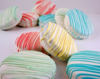 Pastel Drizzled Oreos