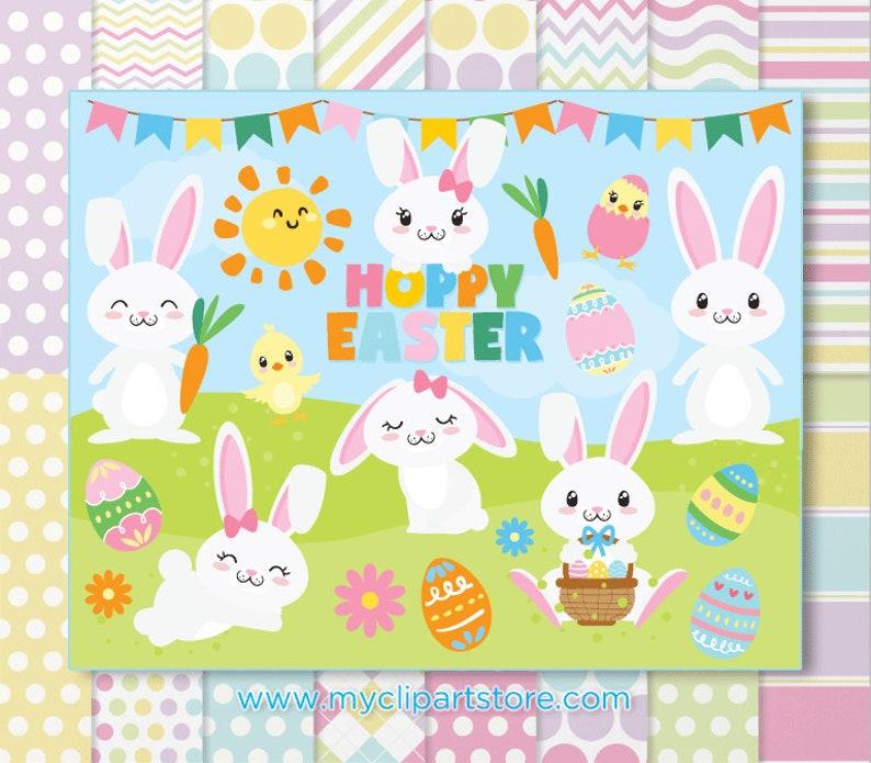 Hoppy Easter Mini Bundle Spring Garden Flowers Easter image 0