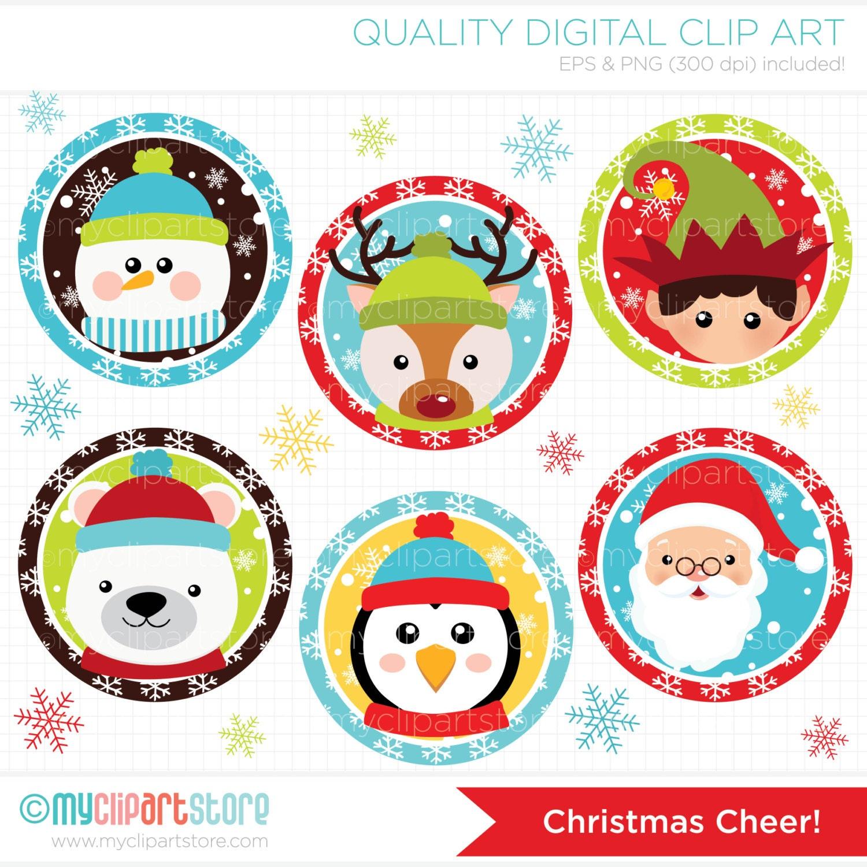 ClipArt Weihnachtsstimmung / Weihnachten runden Digital | Etsy