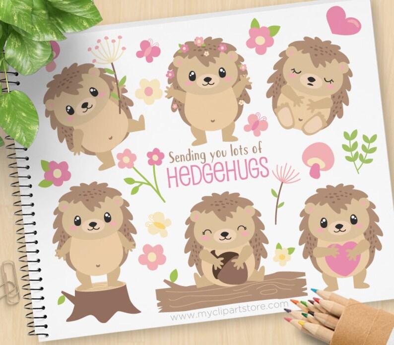 Hedgehogs Clipart cute little Hedgehog Hedgehugs Hand image 0