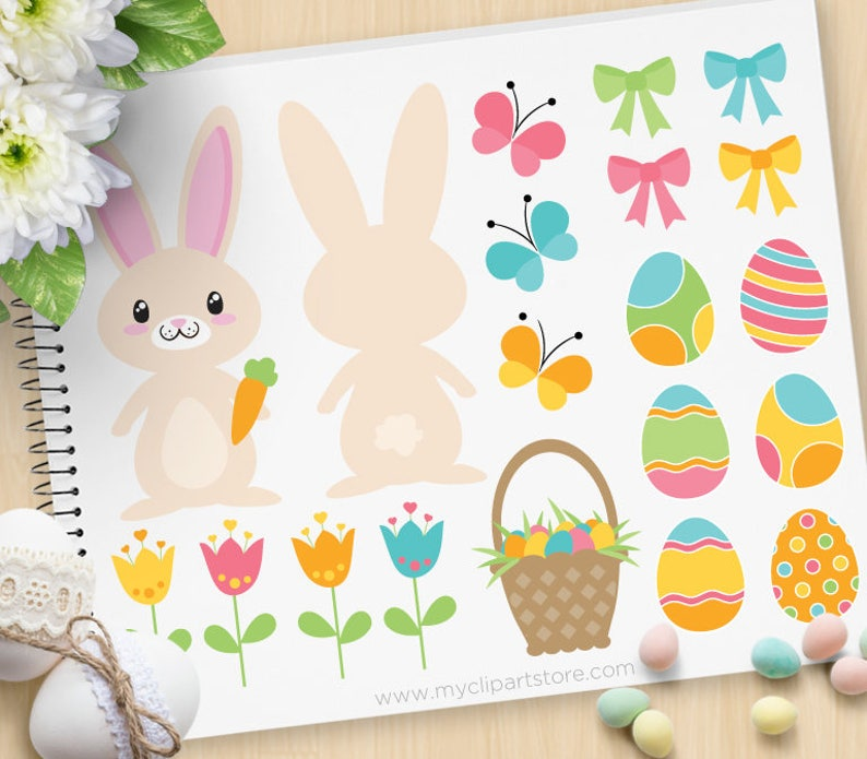 Easter Time Bunny Clipart bunny butt cute rabbit passover image 0