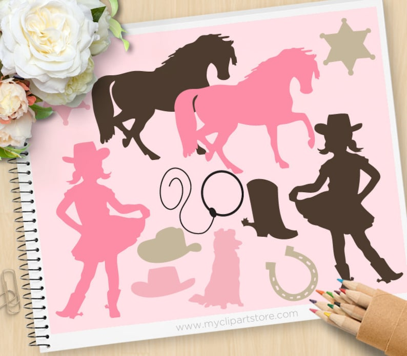 Cowgirl Clipart Silhouette Clipart cowgirl western wild image 0
