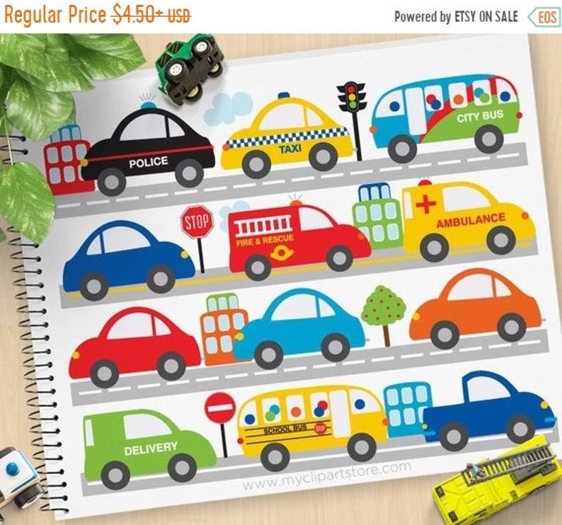 584e64c372 SALE City Vehicles Cars Trucks Clipart City