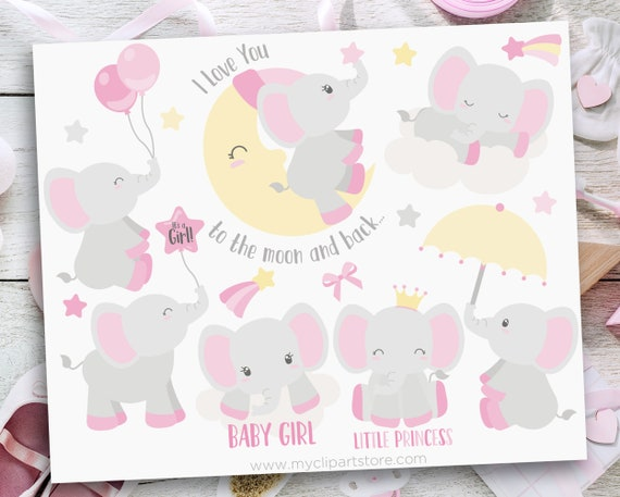 Elephant Clipart Clip Art Personal and Commercial Use Elephants Elephant Printable Cute Elephants Instant Download