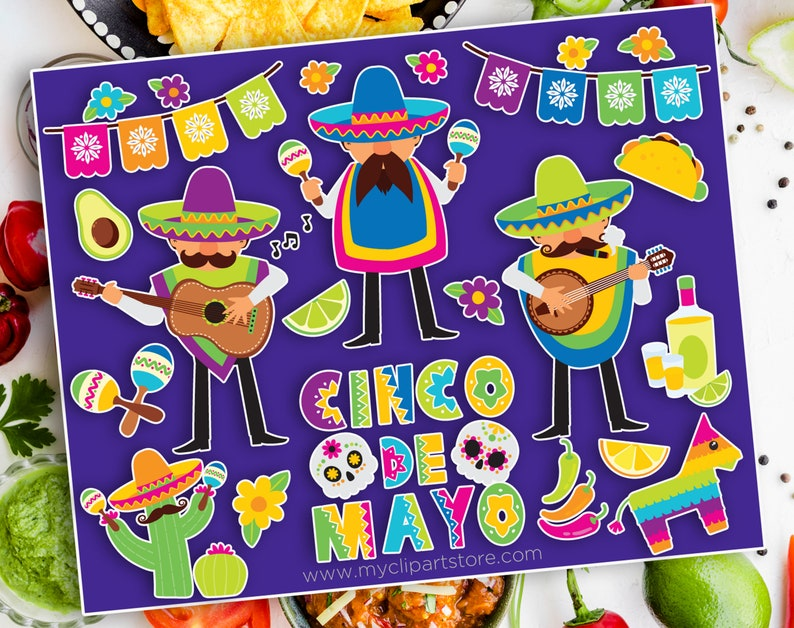 Cinco De Mayo Clipart Mariachi Amigos Musicians Mexico image 0