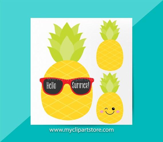 découvrir les dernières tendances meilleure qualité pour nouveau design Ananas Clipart unique, Fruit juteux, l'été, ananas avec lunettes de soleil,  l'été des cliparts, Emoji, utilisation commerciale, vecteur Clipart, ...