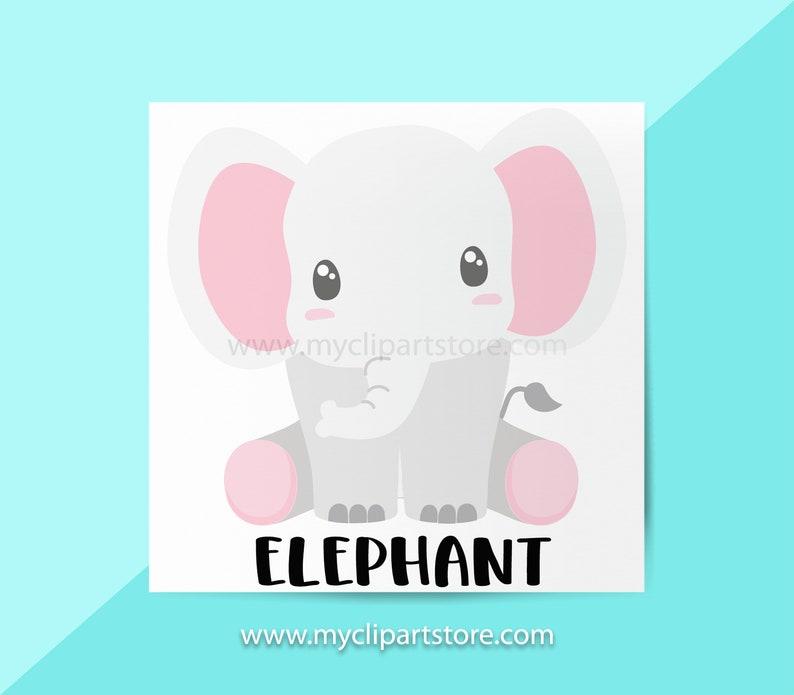 Elephant Clipart SingleElephants Jungle Animals Wildlife image 0