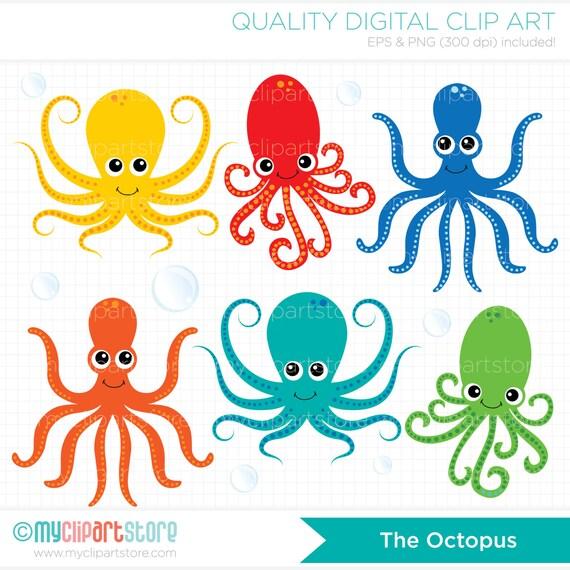 clipart under the sea octopus octopi digital clip art etsy rh etsy com under the sea clipart shapes under the sea clipart png