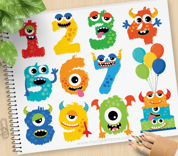 Swell Monster Numbers Boy Cute Monster Clipart Alphabet Monster Funny Birthday Cards Online Bapapcheapnameinfo