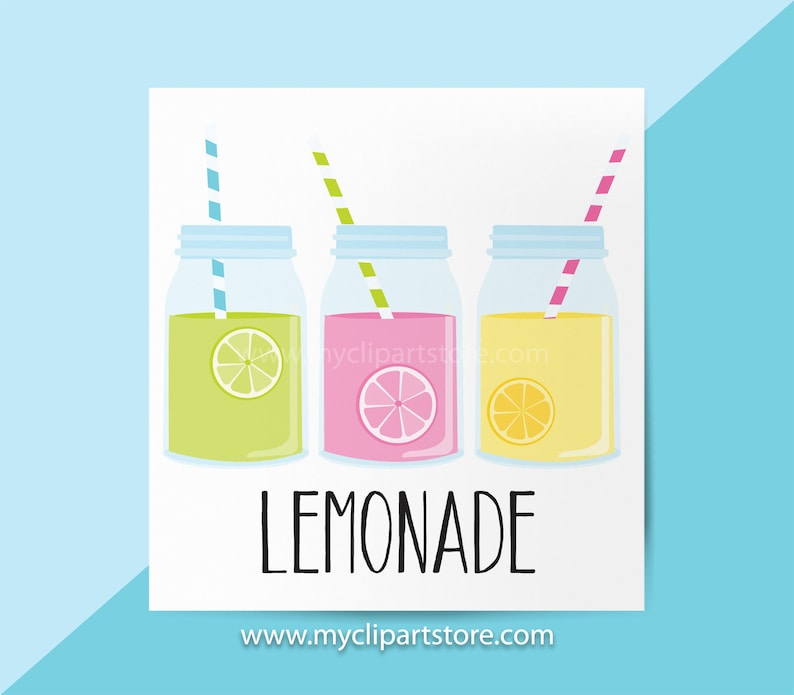 Lemonade Clipart Single, Fruit Juice, Lemonade Stand, Mason Jars, Cold  Drinks, Smoothy, Summer, Commercial Use, Vector Clipart, SVG Files