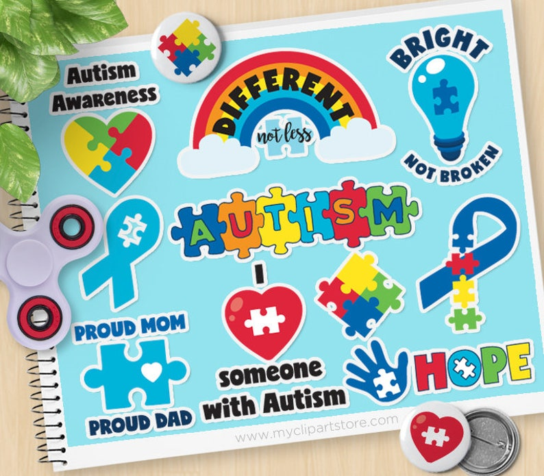 Autism Awareness Clipart Autism Stickers Special needs image 0