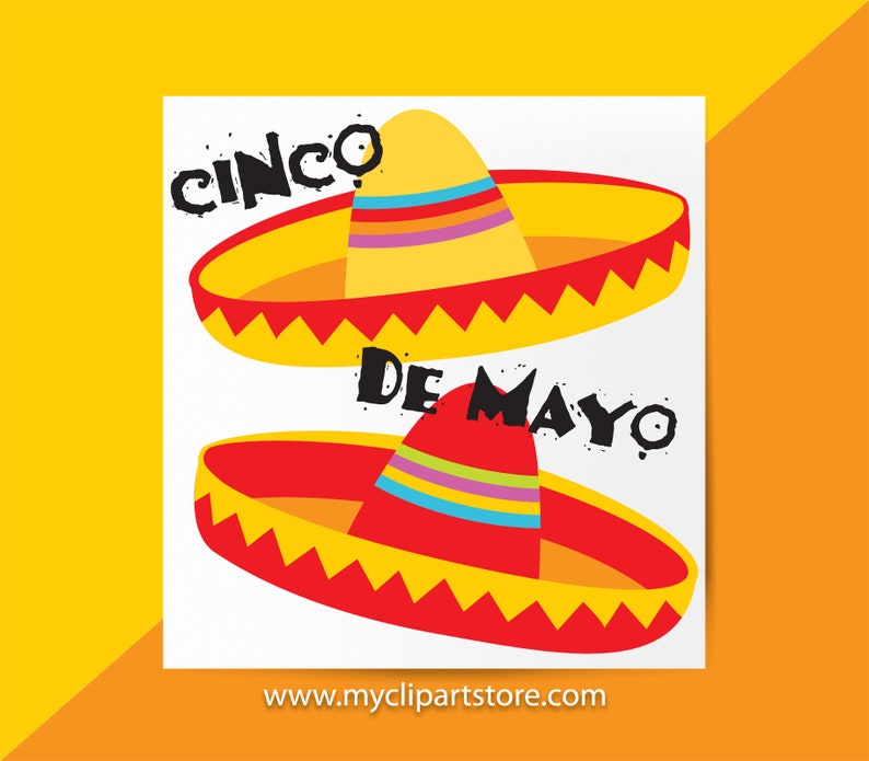 Sombrero Clipart Single Viva Mexico Cinco De Mayo Mexican image 0