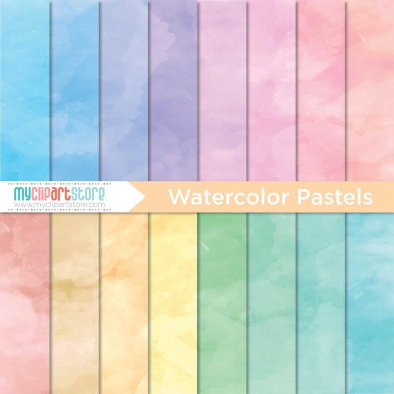 Digital Texture  Pastel Watercolor Textures pastel colors image 0