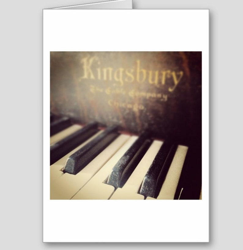 Piano Keys Card Music Happy Birthday Congratulations