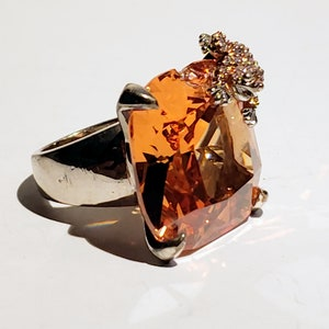 Natural Unheated Untreated Imperial Topaz Ring Katlang Topaz Ring Peach Topaz Ring very Rare Natural Topaz stone Women rings 925 silver