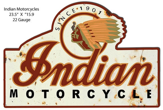 "NEW Indian Motorcycle Vintage Design 7/"" Round Aluminum Sign"