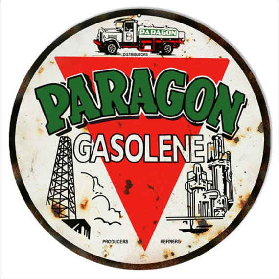Paragon oils Old advertising Poster reproduction