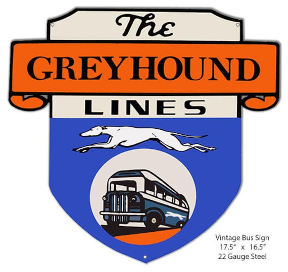 Greyhound Bus Depot Reproduction Vintage Nostalgic Metal Sign 12x18