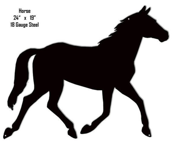 Horse Animal Wall Art Laser Cut Out Metal Sign 17x23.5