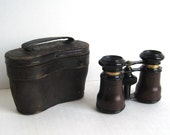 Antique Viennese Opera Glasses in Leather Case