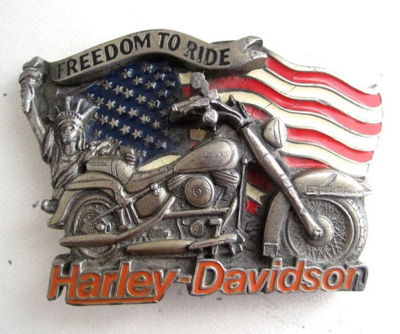 Harley Davidson 1991 FREEDOM TO RIDE Belt Buckle