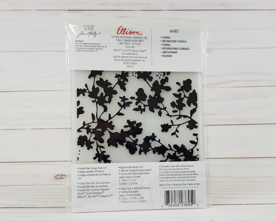 Sizzix 661821 Floral Texture Fades Embossing Folder