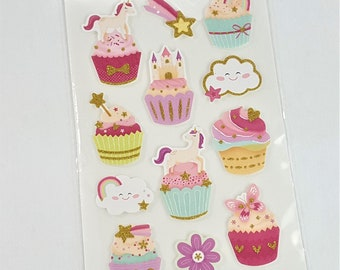 Unicorn Glitter Foam Stickers by Paper Studio 12 pc