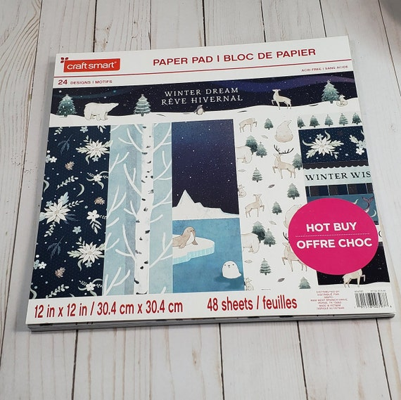 48 Blatt Craft Smith Design-Papierblock 30,4 x 30,4cm Ooh La La