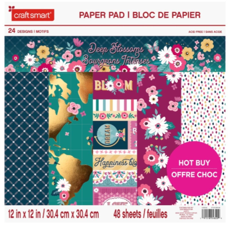Deep Blossoms 12 x 12 Paper Pad by Craft image 0