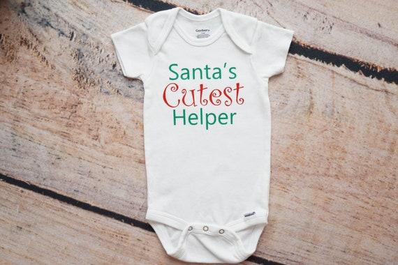 1711c13d4a Santa s Cutest Helper ONESIES® Funny Christmas ONESIES®