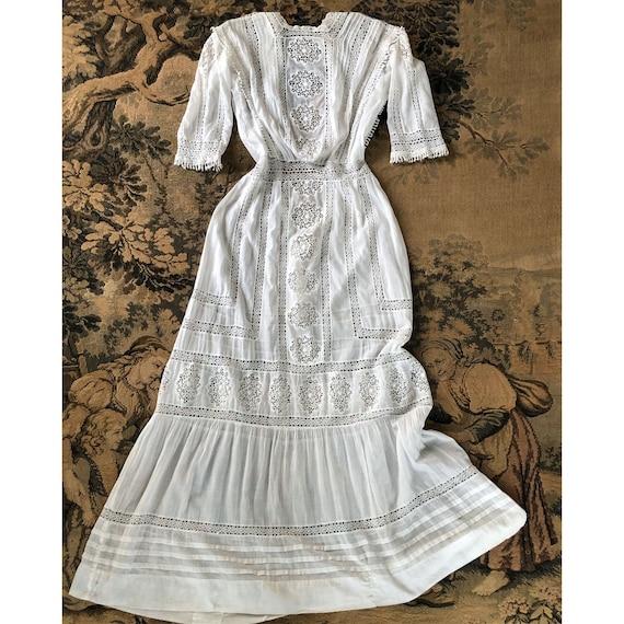 Antique Edwardian Dress Wedding Tea Dress White La