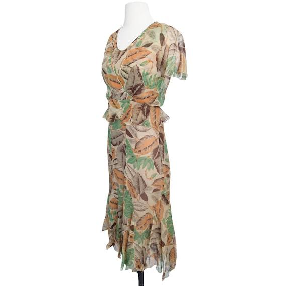 Vintage 1930s Dress  Art Deco Print Silk Chiffon … - image 5