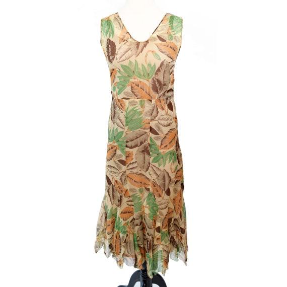 Vintage 1930s Dress  Art Deco Print Silk Chiffon … - image 8