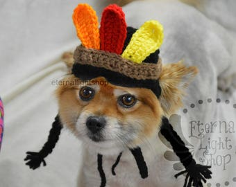 Pet Indian Girl Wig Hat Beanie (XS-XL) Any Colors