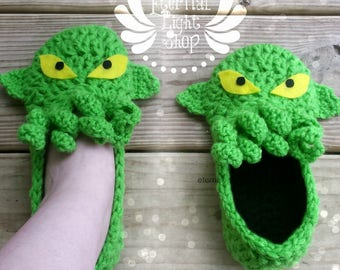 ANY SIZES Cthulhu Inspired Slippers