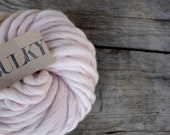 BULKY spun yarn - 3.5oz/100 gr - merino wool cloud spun- super soft Baby Blanket Yarn - organic