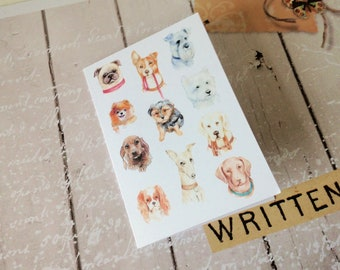 Notelet Blank Cards, Pack 4, Dogs Themed, Small Cards, Fine Art Giclee Prints, Card Pack, Variety of Dog Breeds Blank Greeting Card Pack,
