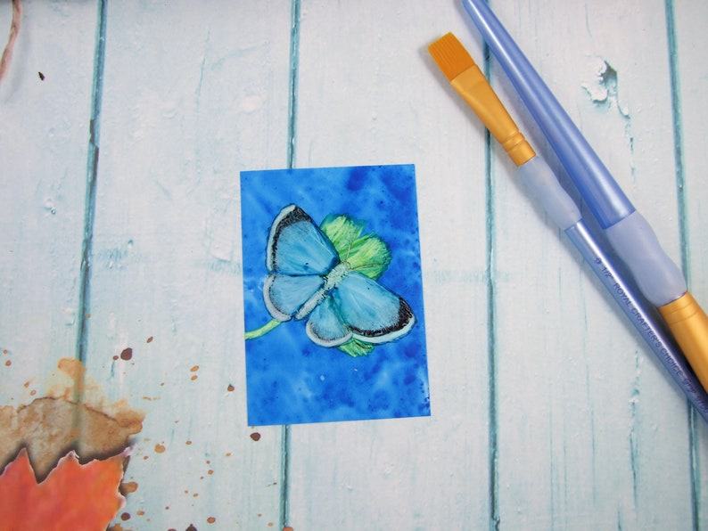 ATC ACEO Card ~ Butterfly Girl