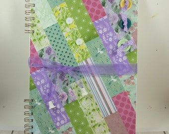Scrapbook Album, Large A4, Quilting, Floral Pattern Sewing Journal, Scrapbooking, Personalised, Memory Book, Sewing, Quilting Notes Book