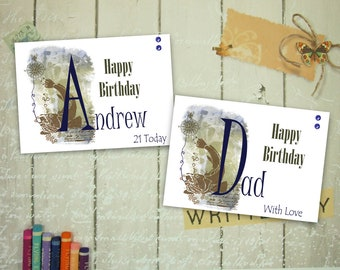 Personalised Fishing Card, Angling Card, Personalised Sentiment and Insert, 7x5 Inch Card Any Occasion, Birthday, Fathers Day, Custom Card