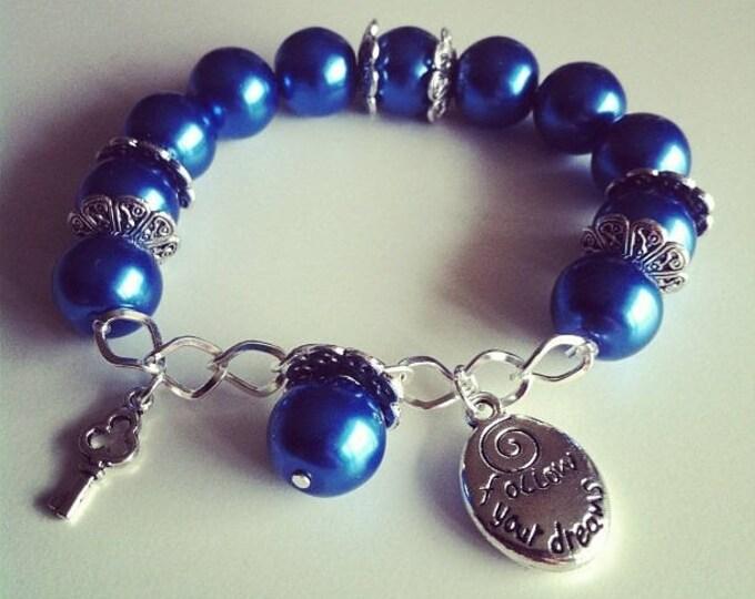 #57 Navy charm bracelet