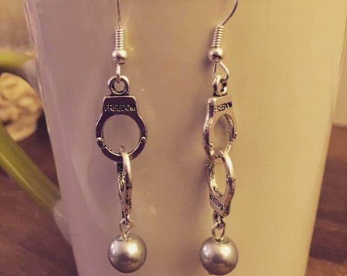 50 shades of Grey handcuff earrings