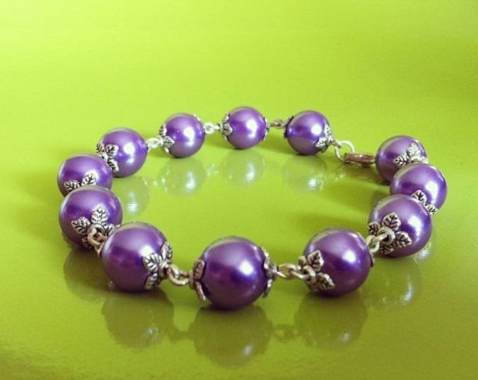 Bracelet purple beads
