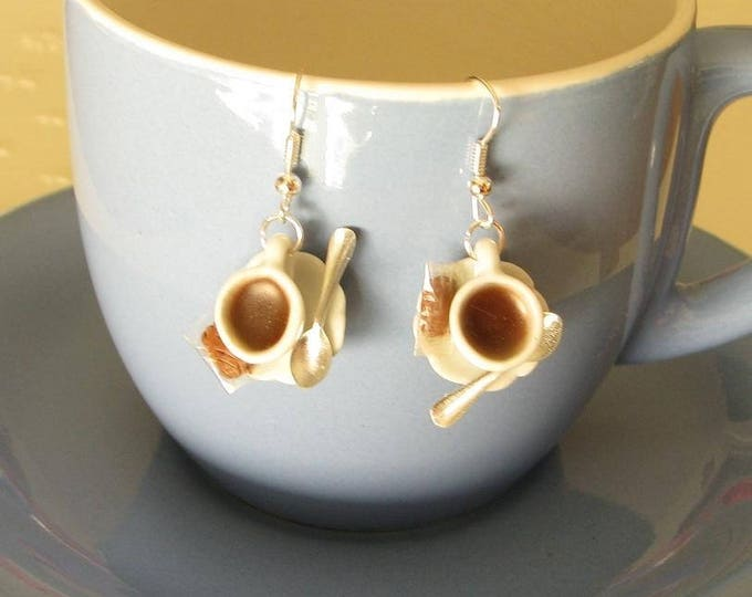 Black coffee earrings speculoos ref 239