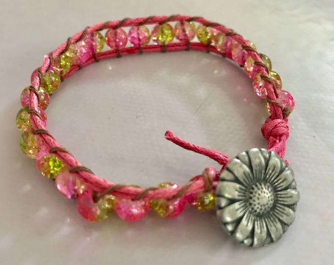 Indian style with button metal bracelet