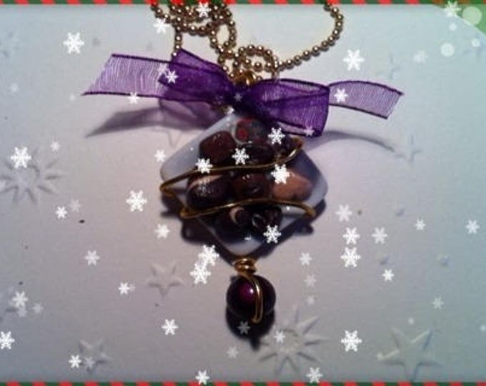 Chocolate Christmas ref 67 plate pendant necklace